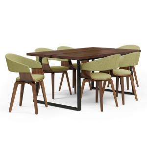 Excellent Simpli Home Lowell 7 Piece Dining Set With 6 Upholstered Gmtry Best Dining Table And Chair Ideas Images Gmtryco