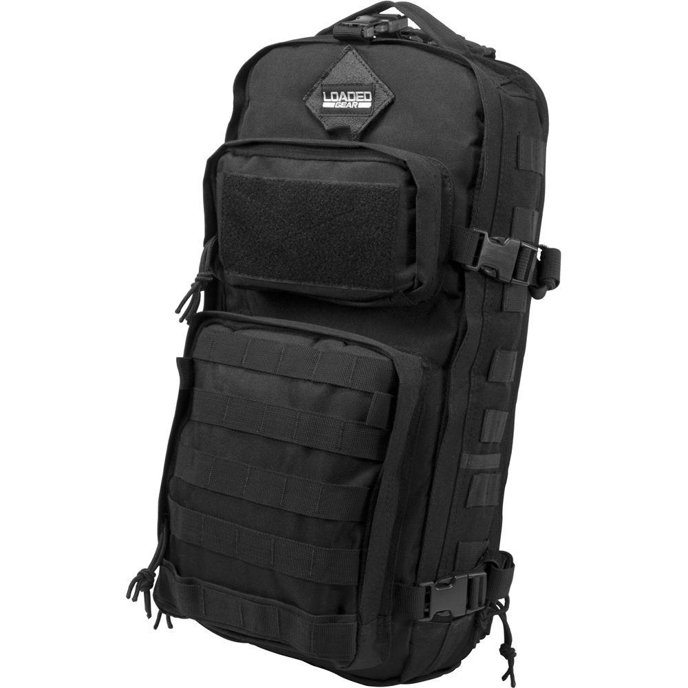 Loaded Gear 13 in. GX-300 Tactical Sling Backpack, Black