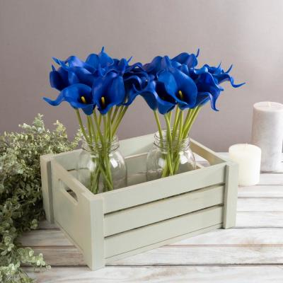 Royal Blue Artificial Calla-Lily Flowers with Stems (24-Pack)