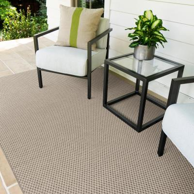 Ardea Shell 9 ft. x 12 ft. Solid Indoor/Outdoor Area Rug