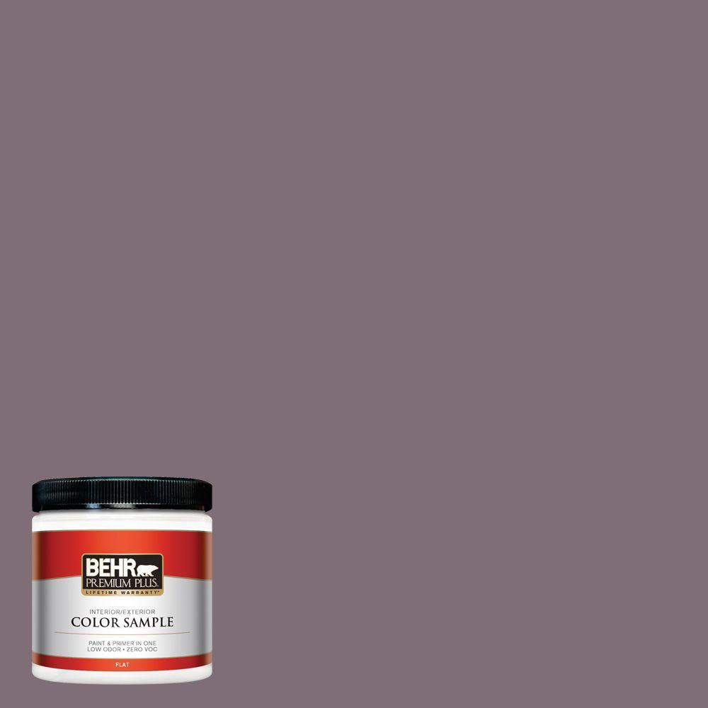 BEHR Premium Plus 8 oz. #ECC-18-3 Blooming Wisteria Interior/Exterior Paint Sample