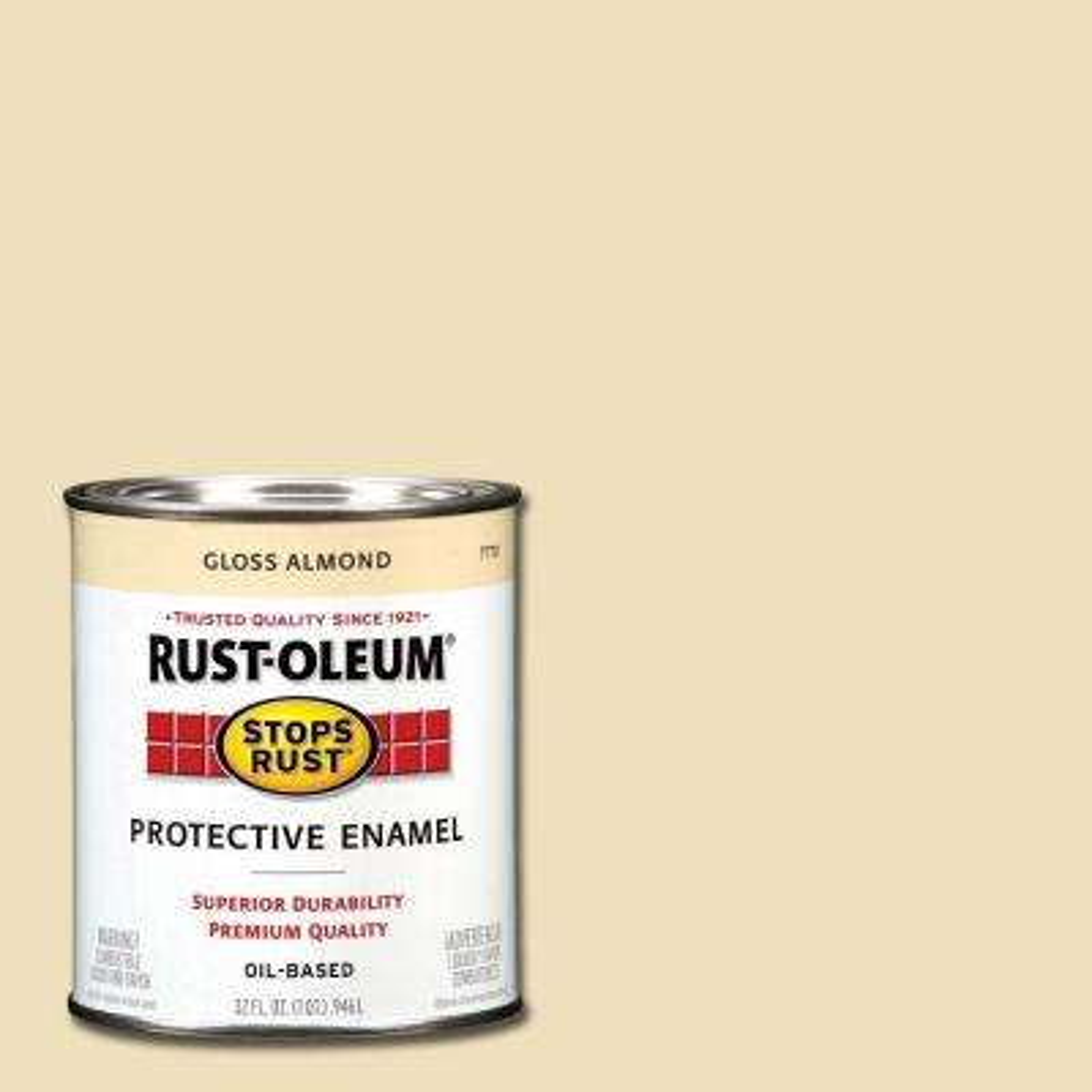 1 qt. Protective Enamel Gloss Almond Interior/Exterior Paint (2-Pack)