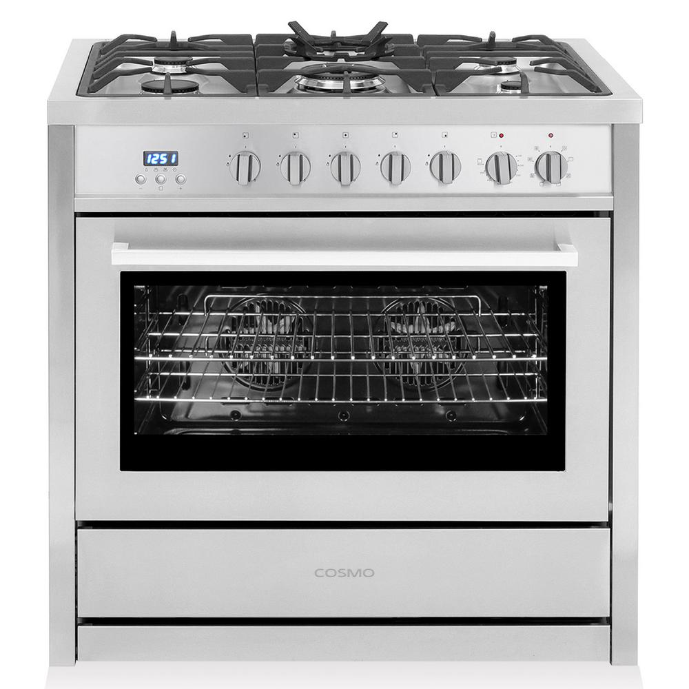 Commercial-Style 36 in. 3.8 cu. ft. Single Oven Dual Fuel Range