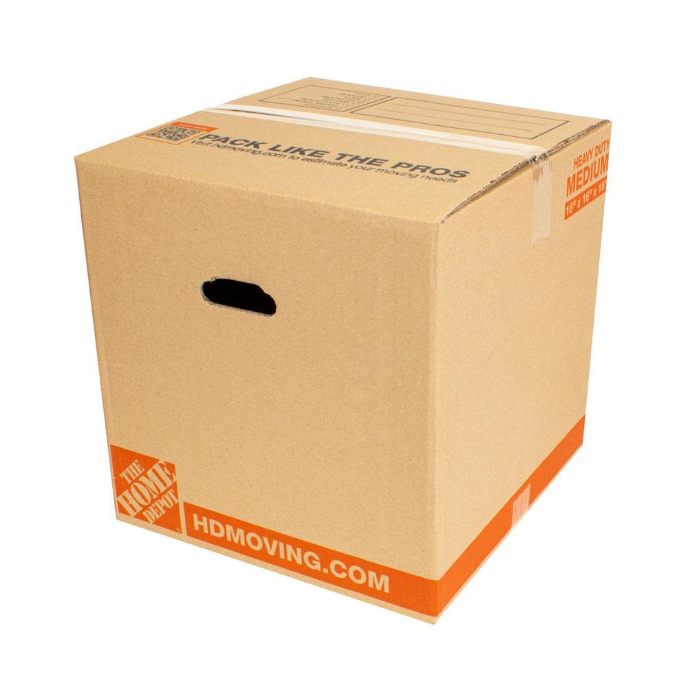 16 in. L x 16 in. W x 16 in. D Heavy-Duty Moving Box (20-Pack)
