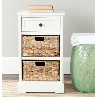 Carrie Distressed Cream Side Table