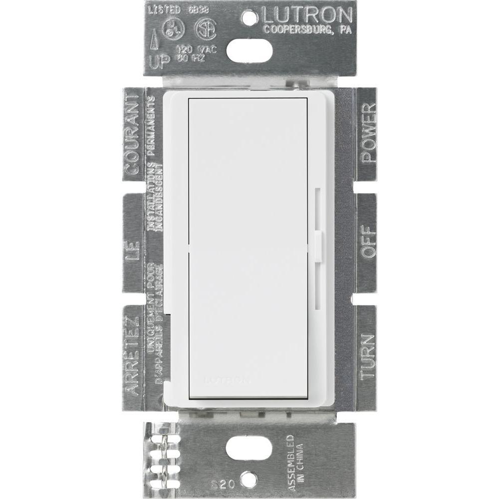 Diva Dimmer for 0-10V LED/Fluorescent Fixtures, 8 Amp, Single-Pole or 3-Way, White