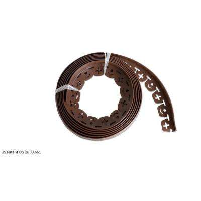20 ft. L x 2 in. W x 1.5 in. H Light Brown Resin Innovative Edge No Dig Edging with 9 in. Poly Nails (16-Quantity)