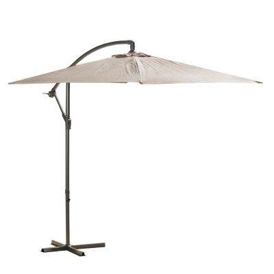 Guillermo 10 ft. Iron Cantilever Tilt Patio Umbrella in Mocha