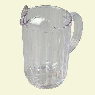 32 oz., 7.12 in. High Polycarbonate Clear Pitcher (Case of 6)