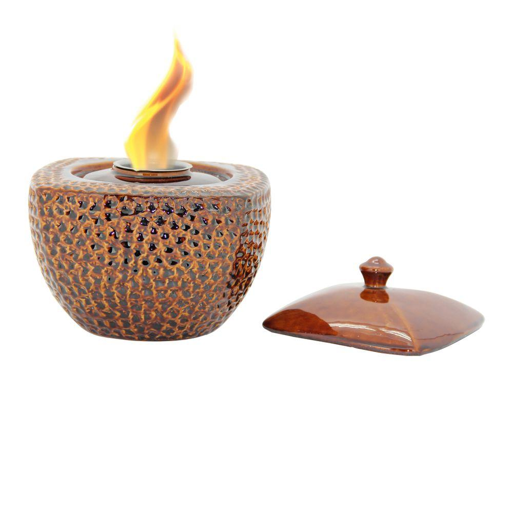 Pacific Decor Fire Pot in Brown-DISCONTINUED