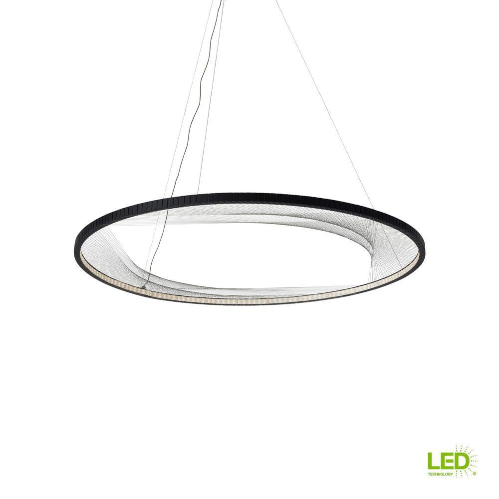 33f93f66d1b2 LBL Lighting Interlace 45 in. Rubberized Black LED Chandelier Shade ...