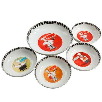 Chef G Assorted Colors Pasta Bowls (Set of 5)