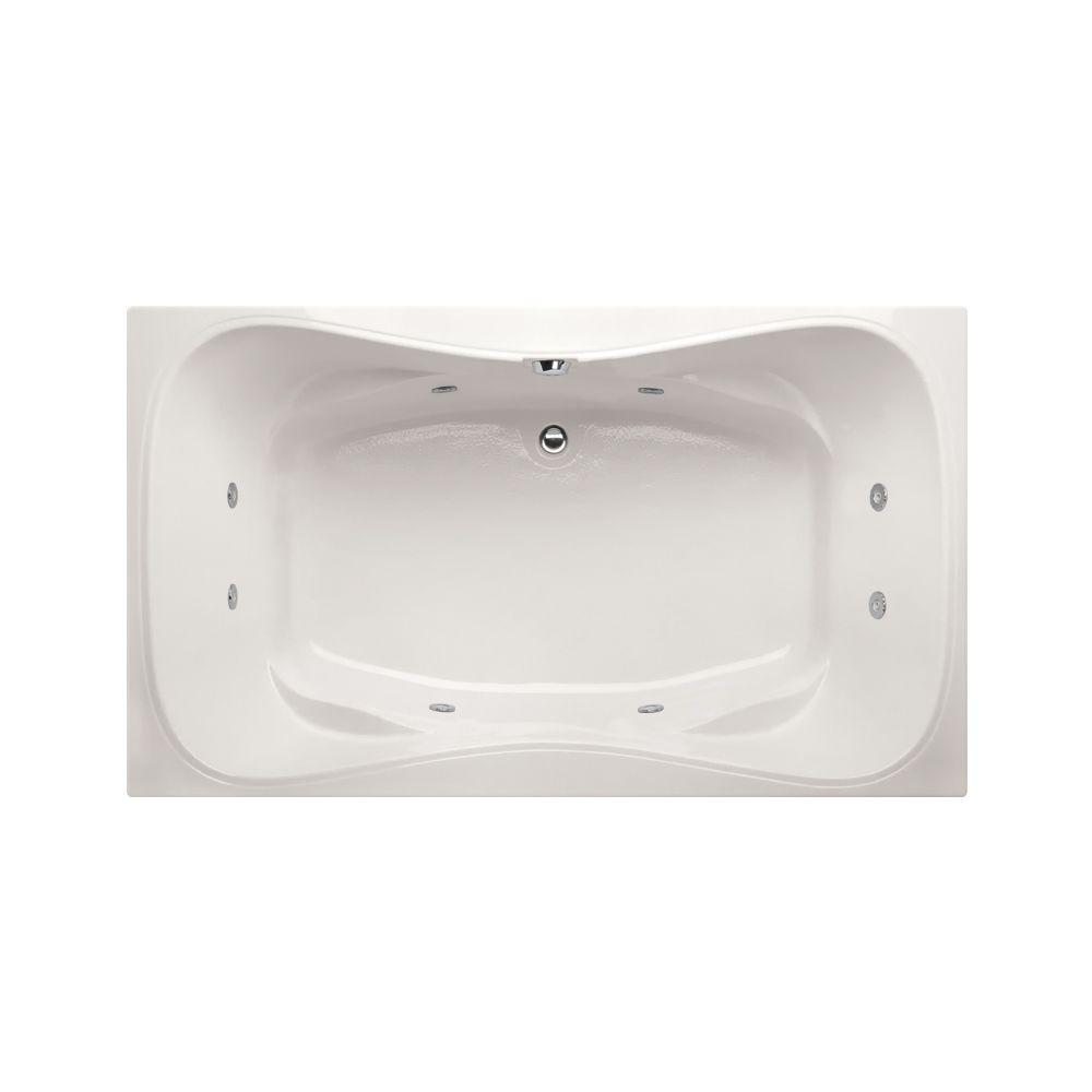 Providence 5 ft. Reversible Drain Whirlpool and Air Bath Tub in