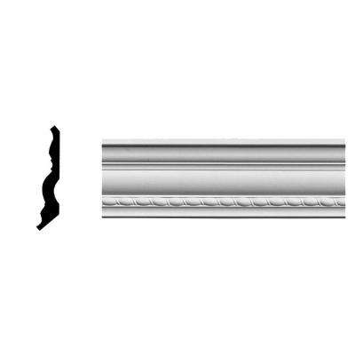 3 in. x 3 in. x 94-1/2 in. Polyurethane Crendon Bead and Barrel Crown Moulding