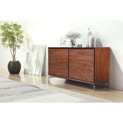 Perth 6-Drawer Chestnut Dresser