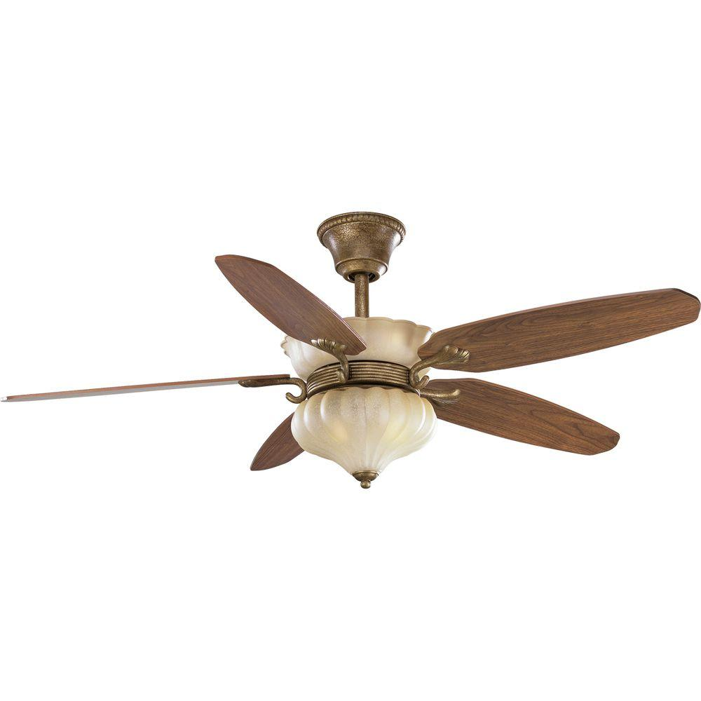 Progress Lighting Le Jardin 52 in. Biscay Crackle Ceiling Fan-DISCONTINUED