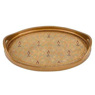 24 in. x 16 in. Antigua Sand Oval Tray