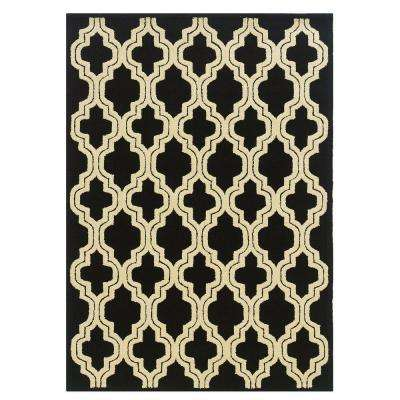 Le Soliel Collection Black and Ivory 8 ft. x 10 ft. Outdoor Area Rug