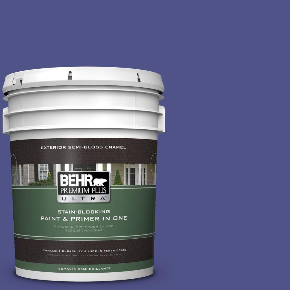 5-gal. #P550-7 Purple Prince Semi-Gloss Enamel Exterior Paint
