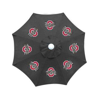 9 ft. Ohio State University Black Patio Umbrella