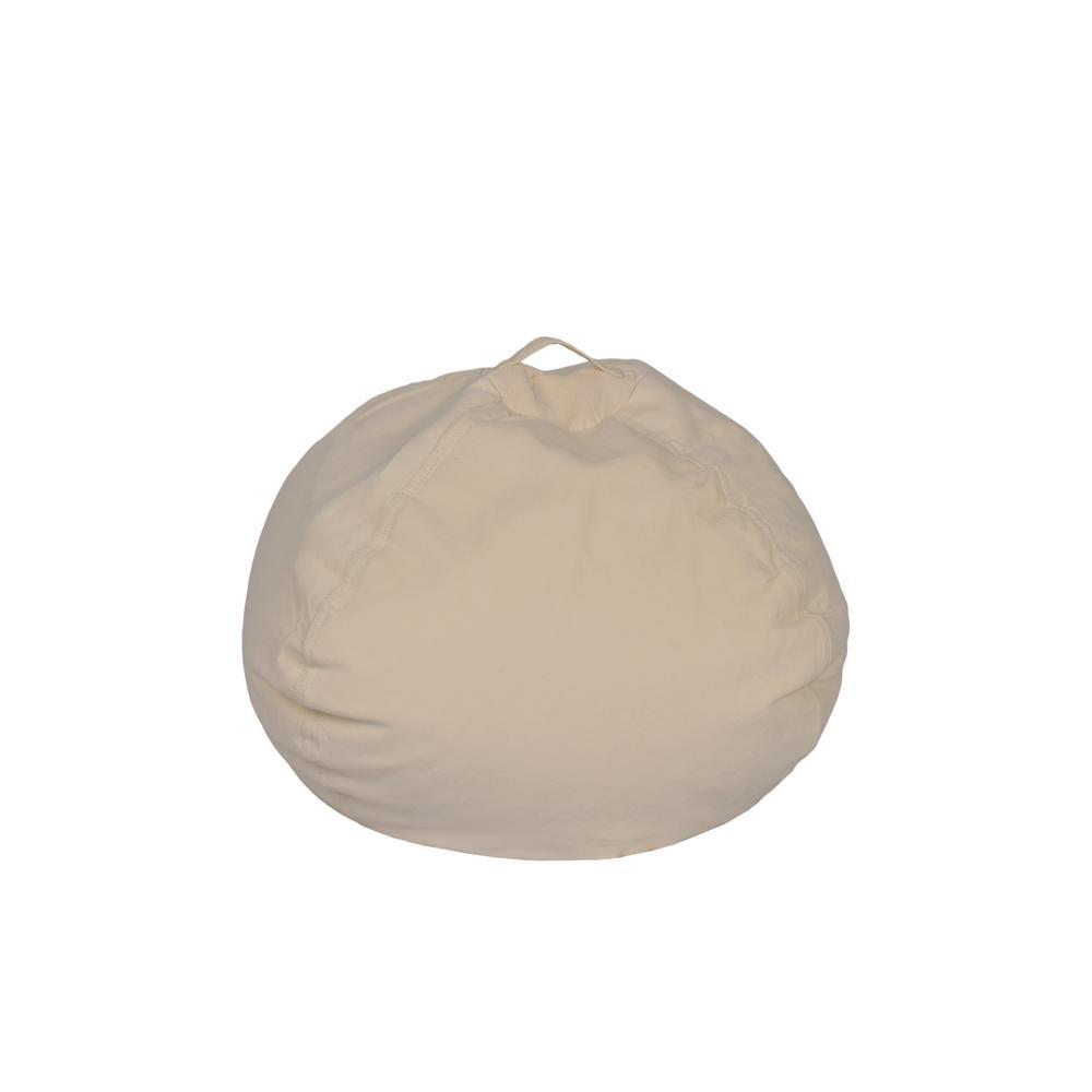Ace Casual Furniture Vintage White Corduroy Bean Bag