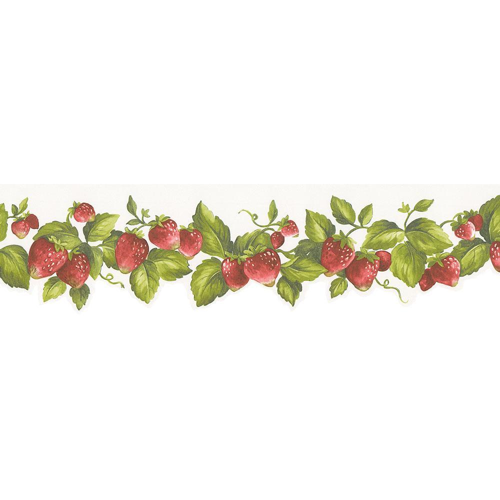 Norwall Die Cut Strawberry Wallpaper Border