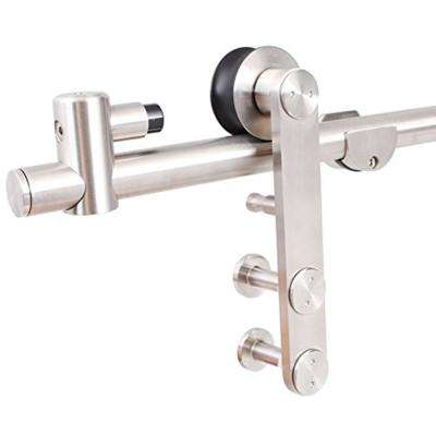 6.6 ft. Morder Stainless Steel Sliding Barn Door Hardware Set