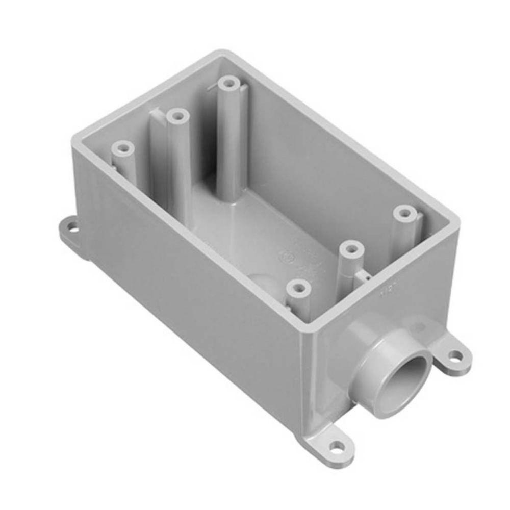 1-Gang 18 cu. in. One 1/2 in. Hub Type FSE PVC FS Box (Case of 12)