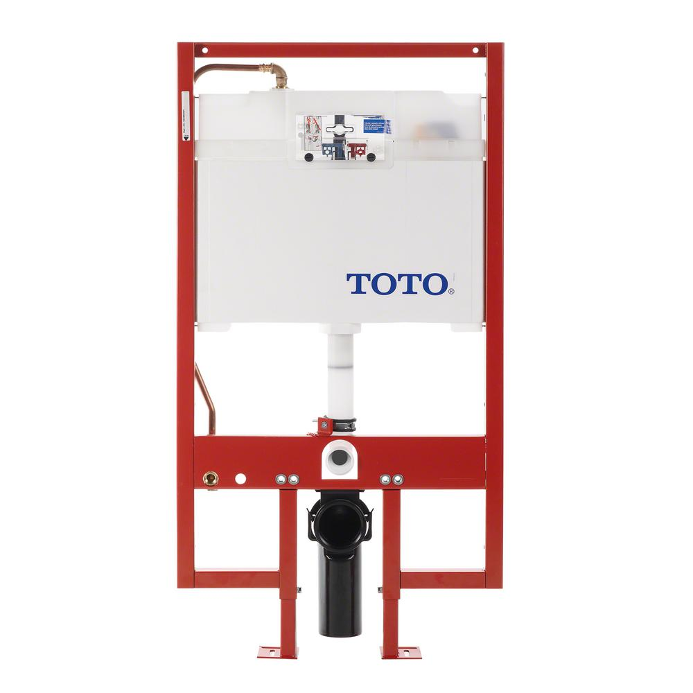 TOTO In Wall 09 16 GPF Dual Flush Toilet Tank Only With Copper Supply