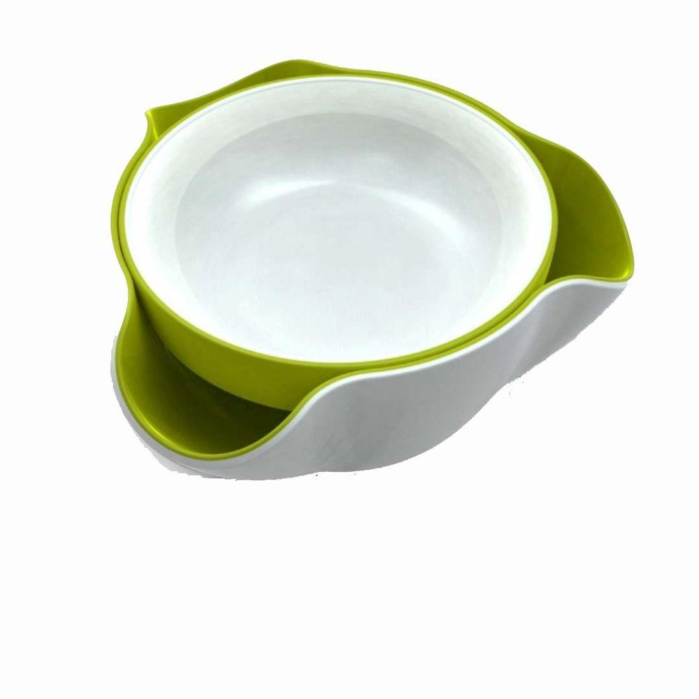 Joseph Joseph Double Dish Green and White-DISCONTINUED