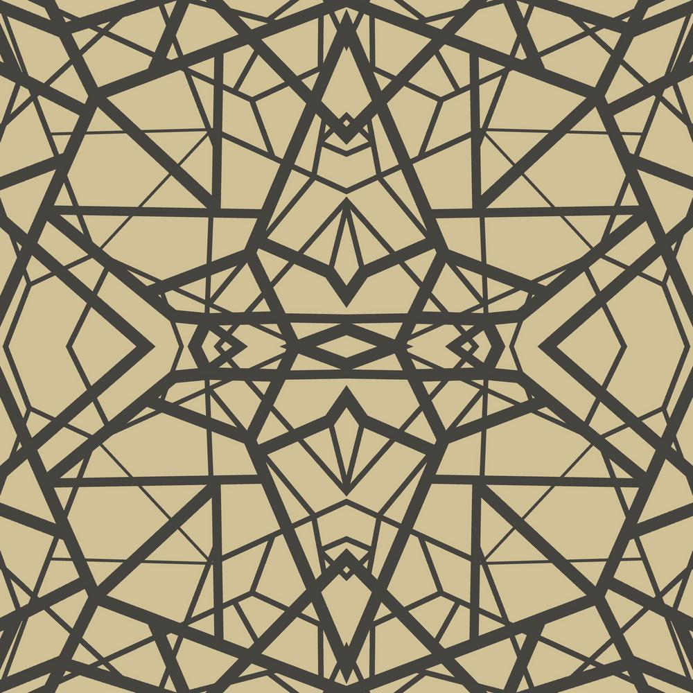 Roommates 2818 Sq Ft Shatter Geometric Goldblack Peel And Stick