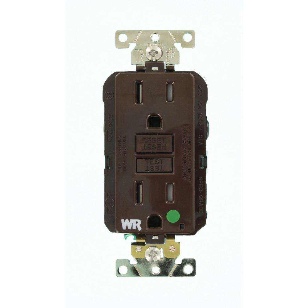 Garage Lights Gfci: Leviton 15 Amp SmartlockPro Hospital Grade Extra Heavy