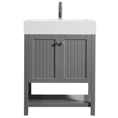 Pavia 28 in. Single Vanity in Grey with Acrylic Vanity Top in White with White Basin