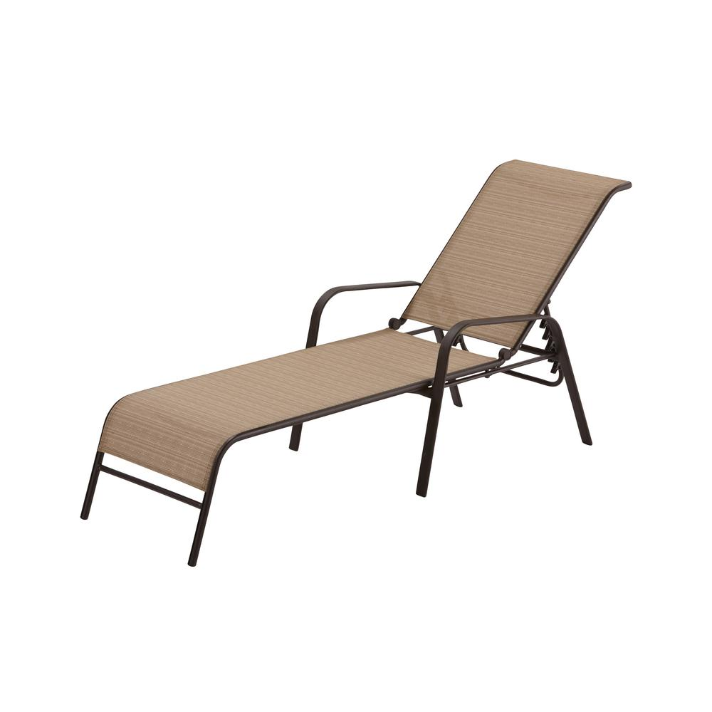Hampton Bay Mix And Match Sling Outdoor Chaise Lounge FLS00036G W   The Home  Depot