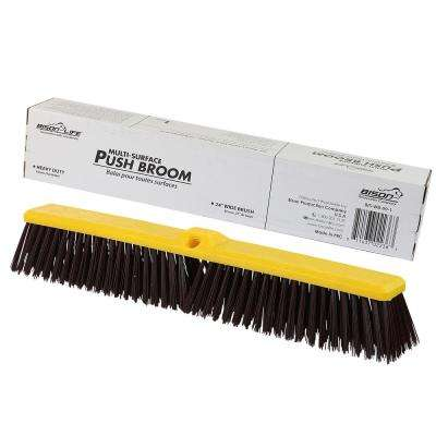 Multi Surface Push Broom-Coarse Polypropylene and Polystyrene Hard Floor Surface Cleaner Broom