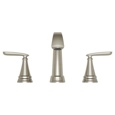 Somerville 8 in. Widespread 2-Handle Bathroom Faucet with Pop-Up Drain in Brushed Nickel