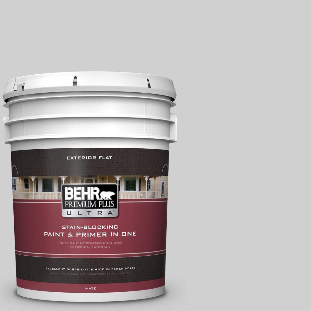 BEHR Premium Plus Ultra 5-gal. #N520-1 White Metal Flat Exterior Paint