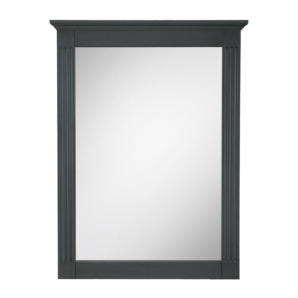 Framed Wall Mirror In Charcoal