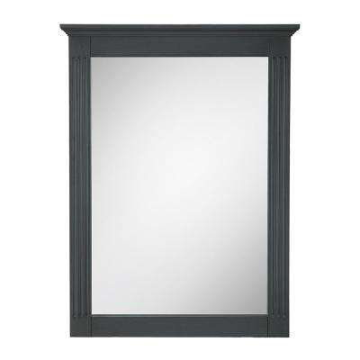 Castleford 19 in. x 26 in. Framed Wall Mirror in Charcoal Grey