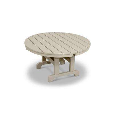 Cape Cod Sand Castle 36 in. Round Patio Conversation Table