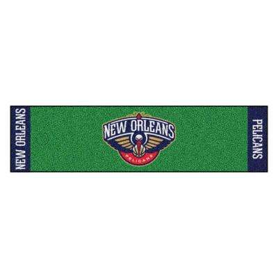 NBA New Orleans Pelicans 1 ft. 6 in. x 6 ft. Indoor 1-Hole Golf Practice Putting Green