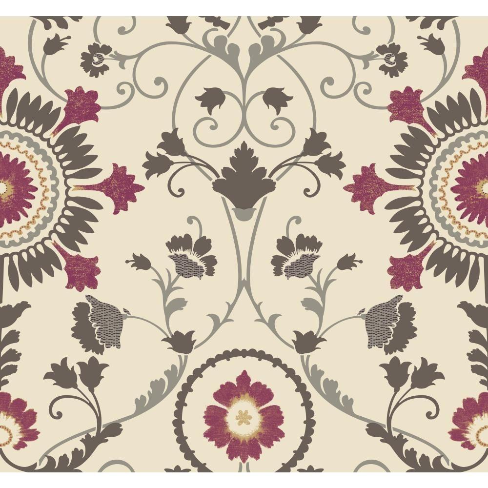 Modern Shapes Enamel Ornament Wallpaper
