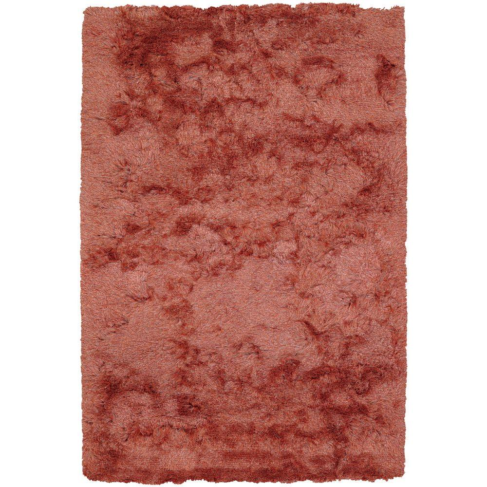 Chandra Naya Orange Beige 8 Ft X 11 Ft Indoor Area Rug