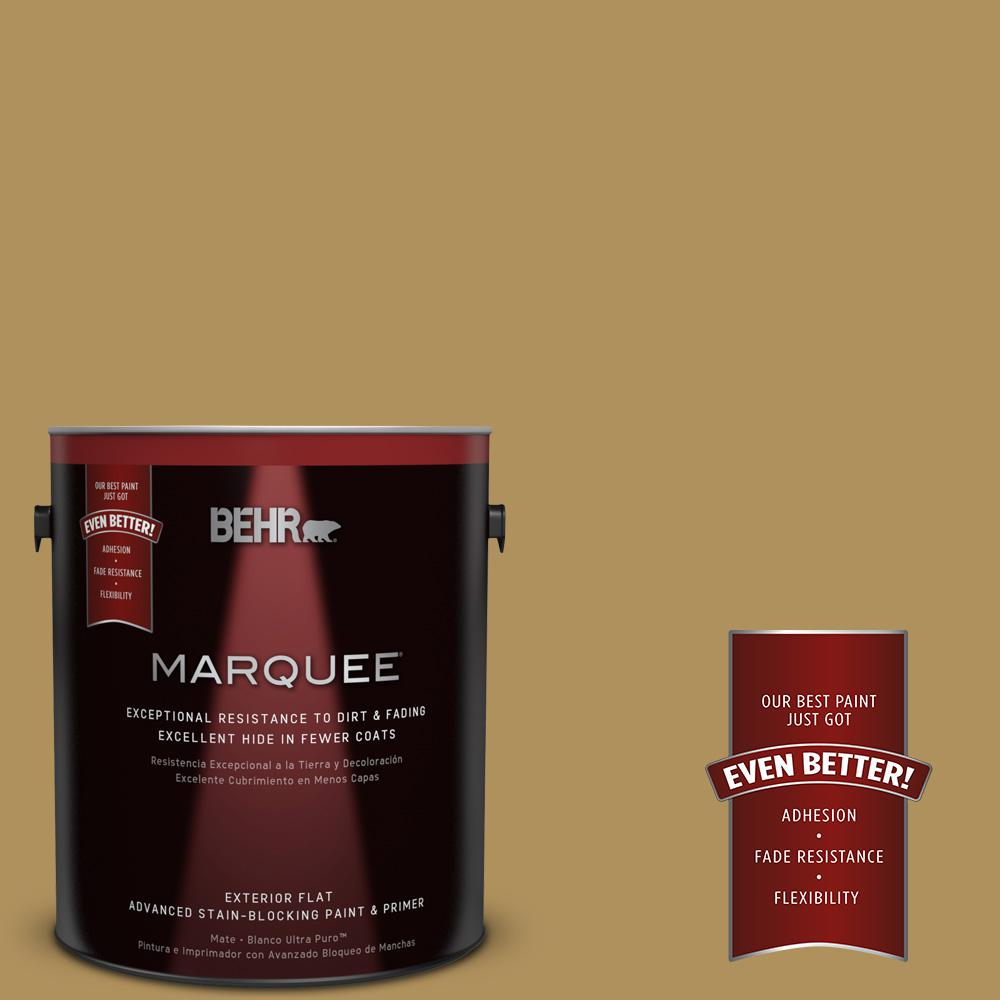 BEHR MARQUEE 1-gal. #S310-5 Brazilian Citrine Flat Exterior Paint
