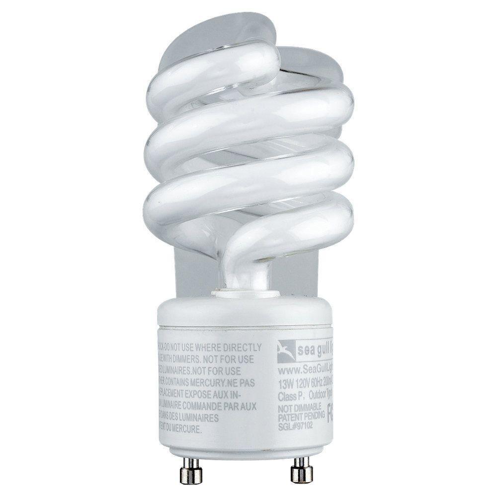 Sea Gull Lighting Ambiance 5 in. GU24 13-Watt Bright White (2700K ...