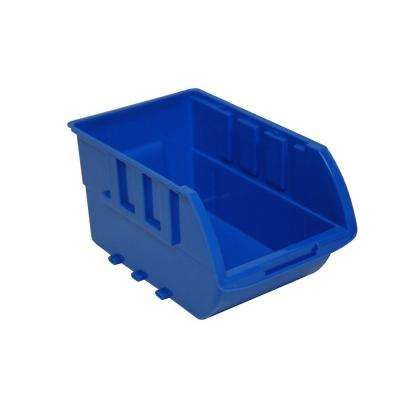 0-Compartment Stackable Bin Small Parts Organizer in Blue