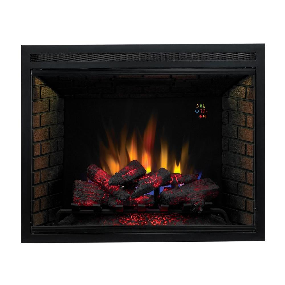 Traditional Built In Electric Fireplace Insert