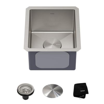 Standart PRO 16 Gauge Stainless Steel 13 in. Undermount Bar Sink