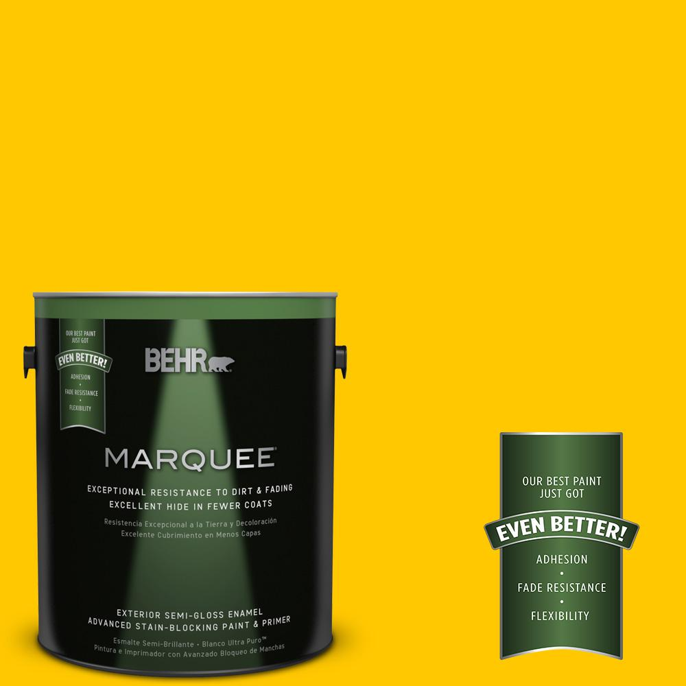 BEHR MARQUEE 1-gal. #S-G-380 Sunny Summer Semi-Gloss Enamel Exterior Paint