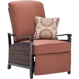 La Z Boy Carson Espresso All Weather Wicker Outdoor Luxury Patio Recliner  With Bordeaux Cushion CARSON RED   The Home Depot